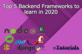 Top 5 Backend Frameworks to learn in 2020