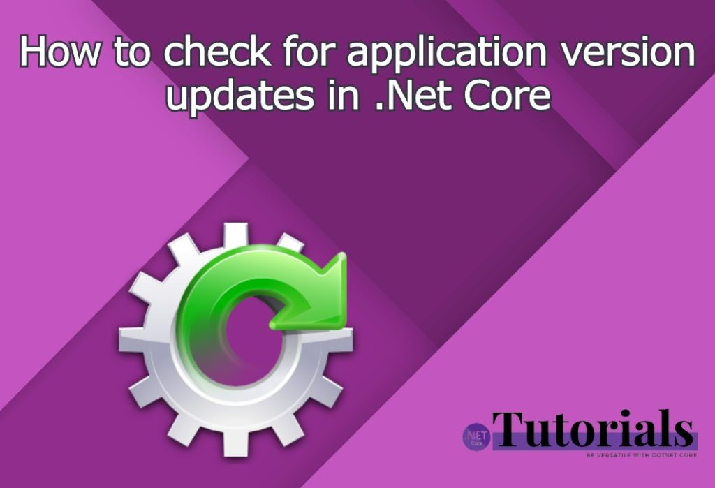 application version updates in .Net Core